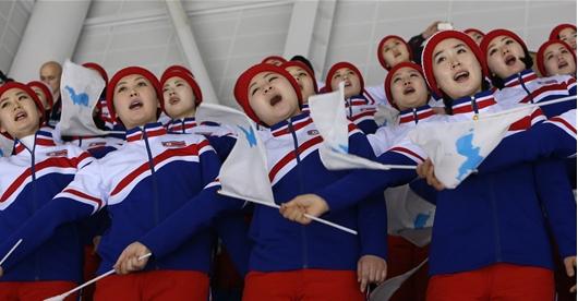꾀꼬리 같은 목소리 북한 응원단