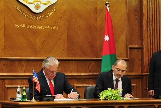 전략적 파트너십 MOU 체결하는 미국-요르단