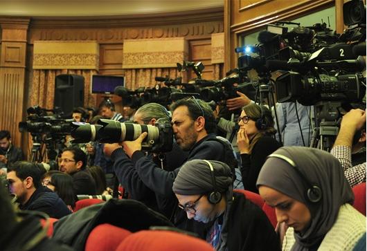 틸러슨 미 국무장관을 향한 카메라들